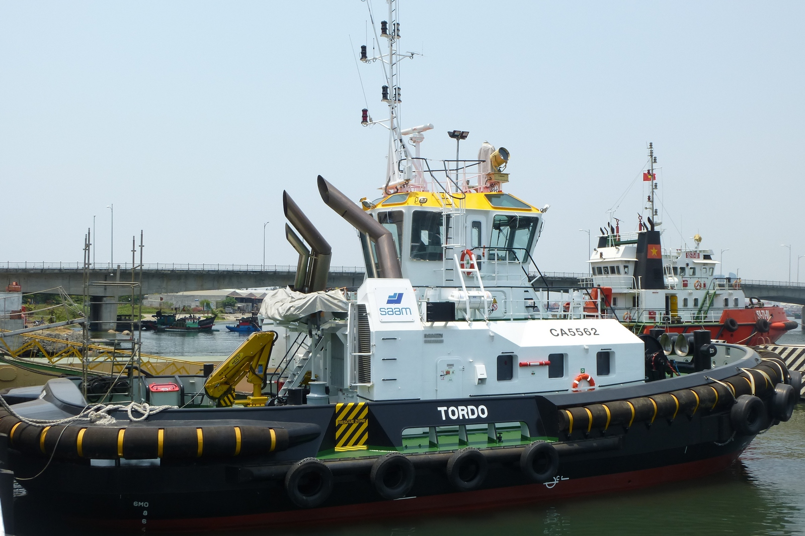 Asd Sa damen delivers two asd tugs 2411 to saam s.a. chile