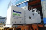 Damen has developed a BWT Ex deckhouse that can withstand slamming of waves